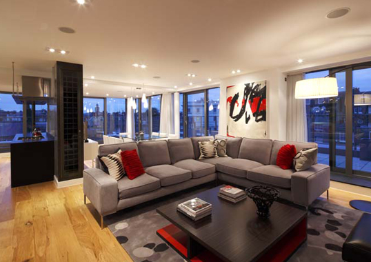 Click the thumbnails below to view gallery of this Urban Chic Penthouse