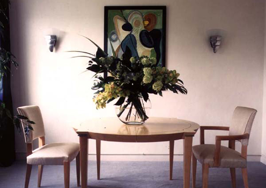 Click the thumbnails below to view gallery of this Art Deco Dining Room
