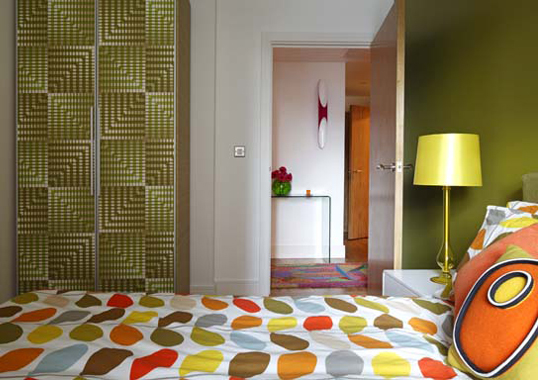 A Completed Interior Design Project In Funky Modern Style