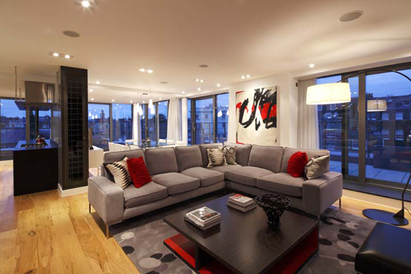 A Completed Interior Design Project In An Urban Chic Penthouse